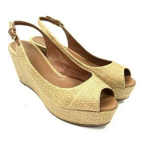f0fe8a867832 Tory Burch Rosalind Wedge Platform Sandal Sz 8.5